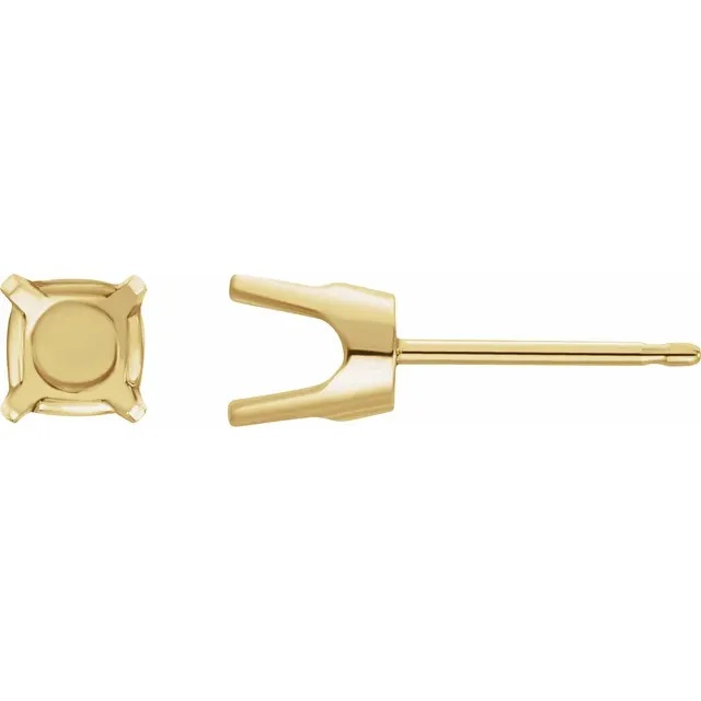 4.1mm 4 prong Stud earring