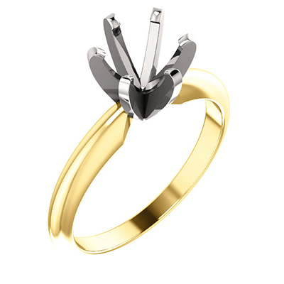 1.0  6 prong Round Solitaire Setting