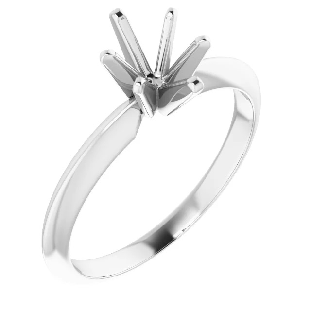 9x7 Oval Shape White Gold Solitaire Setting
