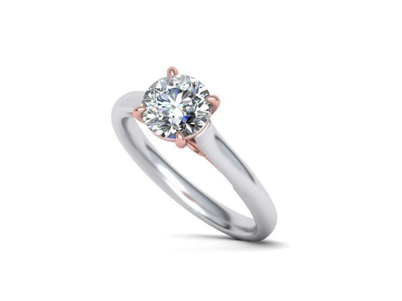 Bow Designs 7mm Engagement Ring Setting