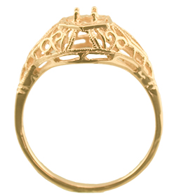 3.5mm Antique Filigree ring mounting