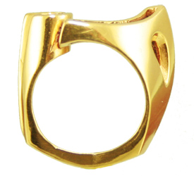 5.0mm Bold Fancy Split Ring Jewelry Mounting