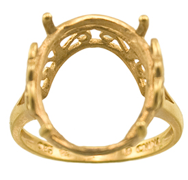 16 x 13 Oval Scroll Design Ring Mountings