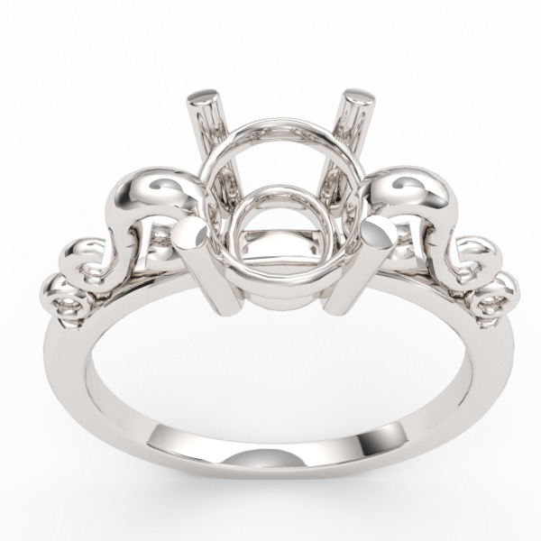 8 x 6 Oval Scroll Ring Setting