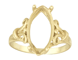 16x8 Marquise Ring Settiing