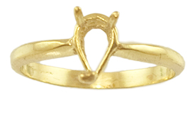 7x5 Pear Shape Basket Ring Setting