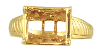 10 x 8 Emerald Cut Antique Style setting