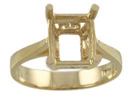 10x8 Emerald Cut Scroll Ring Mounting