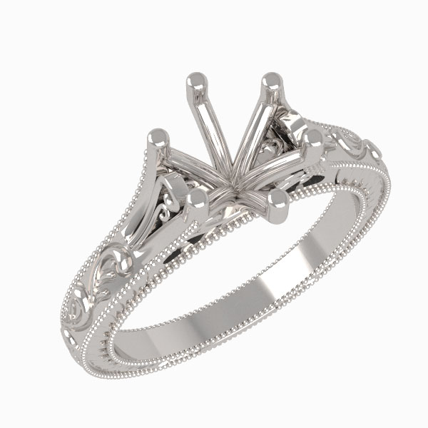 6.5 mm Decorative shank engagement setting