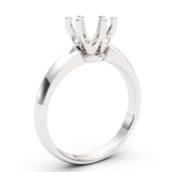 Six Prong Setting Gold Engagement Ring
