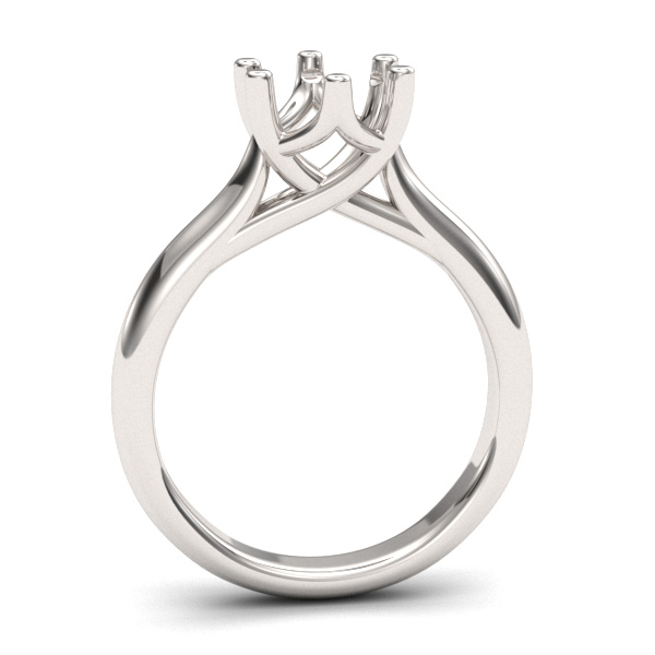 6 prong Trellis Cathedral Ring Setting