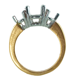 7.5mm Three Stone Ring Mounting