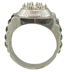 7 Stone Man Ring Setting