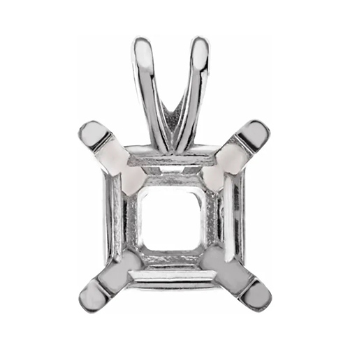 4.5mm 4 Prong Square pendant