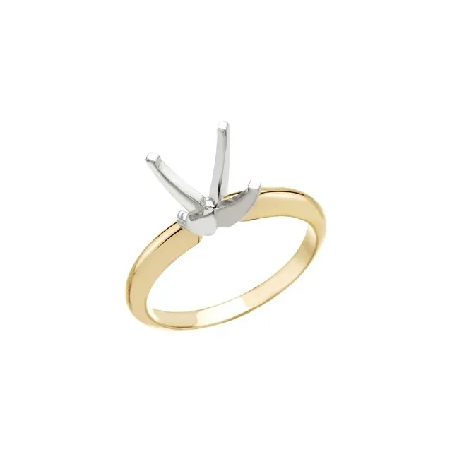7.5mm Princess Cut Solitaire Ring Setting