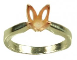 6.5mm Two Tone Tulip Solitaire