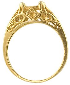 7 x 5 Oval Filigree Ring mounting