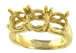 6.5mm Trellis Ring Setting